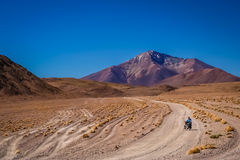 Cycling through Altiplano Royalty Free Stock Images
