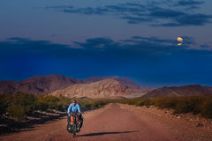 Cycling through Argentina Stock Images