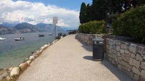 Cycling Around Lake Garda stock footage