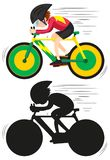 A cycling athlete character. Illustration royalty free illustration