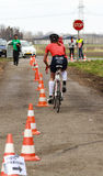 Cycling away Royalty Free Stock Photography