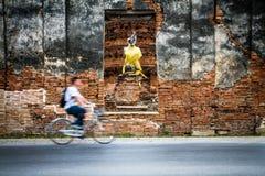 Cycling Ayutthaya Royalty Free Stock Photo