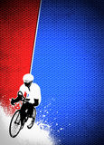 Cycling background Stock Image