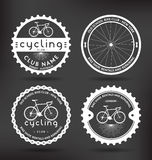 Cycling Badges. Customizable Retro Cycling Badges - Vector Design Elements stock illustration