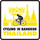 Cycling in Bangkok Thailand Vector Royalty Free Stock Image