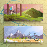 Cycling banners set. Stock Image