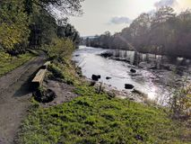 Taff Trail cycle path in Wales Stock Photos