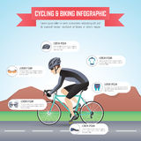 Cycling or biking infographic design template Royalty Free Stock Photography