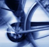 Cycling blur blue tone royalty free stock photo