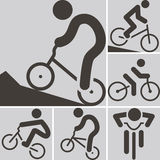 Cycling BMX icon Stock Photos