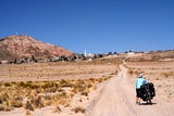 Cycling through Bolivia Royalty Free Stock Photo