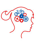 Cycling Brain Royalty Free Stock Photo