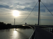 Cycling bridge Royalty Free Stock Images