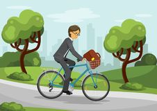 Cycling business man Stock Photography