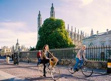 Cycling in Cambridge Royalty Free Stock Photos