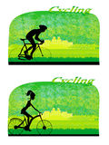 Cycling card Royalty Free Stock Photos