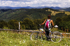 Cycling in the Carpathians Stock Photos