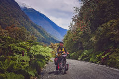 Cycling on Carretera Austral Royalty Free Stock Photos