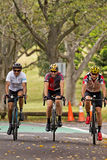 Cycling in Centennial Park, Sydney Stock Images