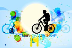Cycling championship scene Stock Images