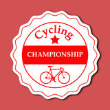 Cycling Championship Sticker Design Royalty Free Stock Images