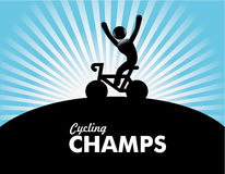 Cycling champs Royalty Free Stock Photo