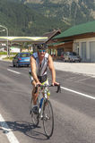 Cycling circulating in the austrian roads Stock Photography