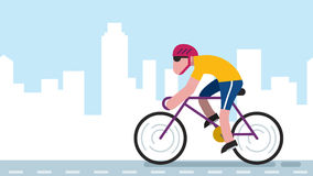 Cycling City stock footage