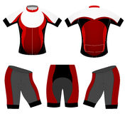 Cycling clothing sports t-shirt Stock Images