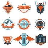 Cycling club labels emblems set Stock Images
