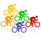 Cycling colorful Royalty Free Stock Images