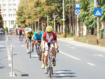 Cycling competition in Bucharest. Royalty Free Stock Images