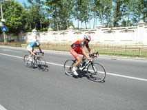 Cycling competition in Bucharest. Royalty Free Stock Photo