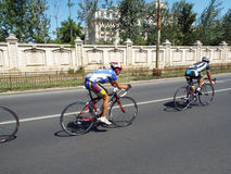 Cycling competition in Bucharest. Stock Image