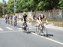 Cycling competition in Bucharest. Royalty Free Stock Photography