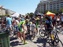 Cycling competition in Bucharest. Stock Photos