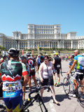 Cycling competition in Bucharest. Stock Images