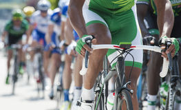Cycling competition close up Royalty Free Stock Photos