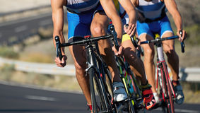 Cycling competition,cyclist athletes riding a race Royalty Free Stock Photos