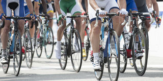 Cycling competition panoramic Stock Image