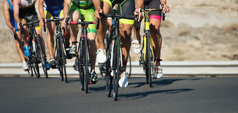 Cycling competition race. Cycling competition,cyclist athletes riding a race Royalty Free Stock Images