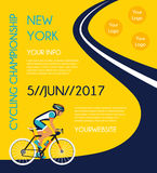 Cycling competition or race poster. Stock Image