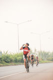 Cycling competition in Thailand stock photo