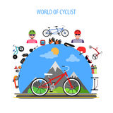 Cycling Concept Flat Royalty Free Stock Photography