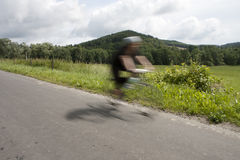 Cycling in a country Royalty Free Stock Photography