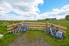 Cycling in the Countryside Stock Image