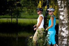 Cycling couple Stock Photography