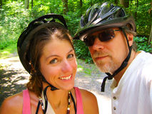 Cycling Couple royalty free stock photography