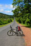 Cycling in Cuba royalty free stock image