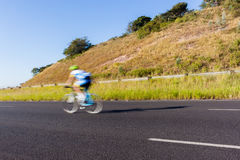 Cycling Cyclist Road Speed Blur Royalty Free Stock Image